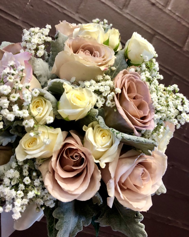 Mixed Rose, Spray Rose & Babies Breath Bridal Bouquet