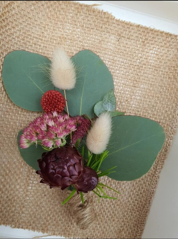 Rustic Buttonhole - Jenna & Steven's Wedding