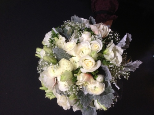 Rose, Lisianthus, Babies Breath Bridal Bouquets