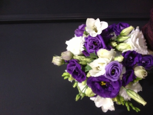 Lisianthus, Freesia, Carnation Wedding