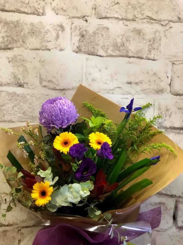 Yellow & Purple Flowers Bouquet of the Day