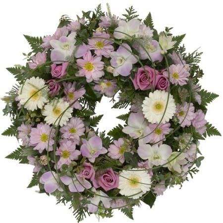 Mixed Pink Floral Bloom Wreath
