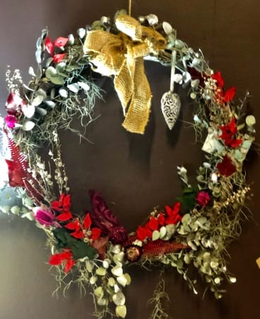 Cherry Red Christmas Wreath
