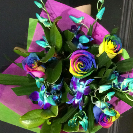 Rainbow Rose Delight Bouquet