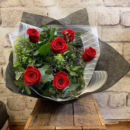 Columbian Red Roses Bouquet