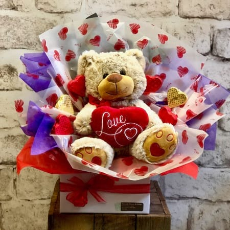 Teddy Bear and Chocolate Box