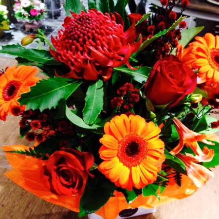 Burnt Orange Sunset Arrangement