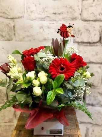 Lady Bird Flower Arrangement