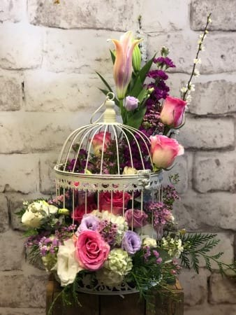 Dream Bird Cage Arrangement