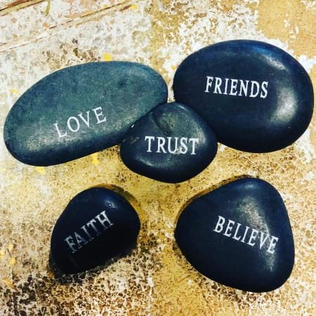 3 Inspirational Message Stones