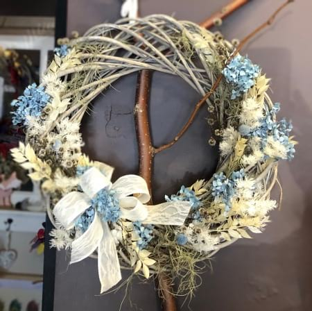Baby Blue Christmas Wreath